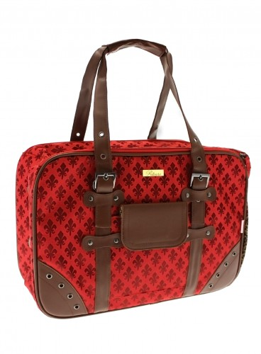 A Red Fleur-De-Lis Pet Carrier from UrbanPup To Giveaway!