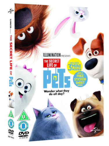 5 DVDs of 'The Secret Life of Pets' to Giveaway!